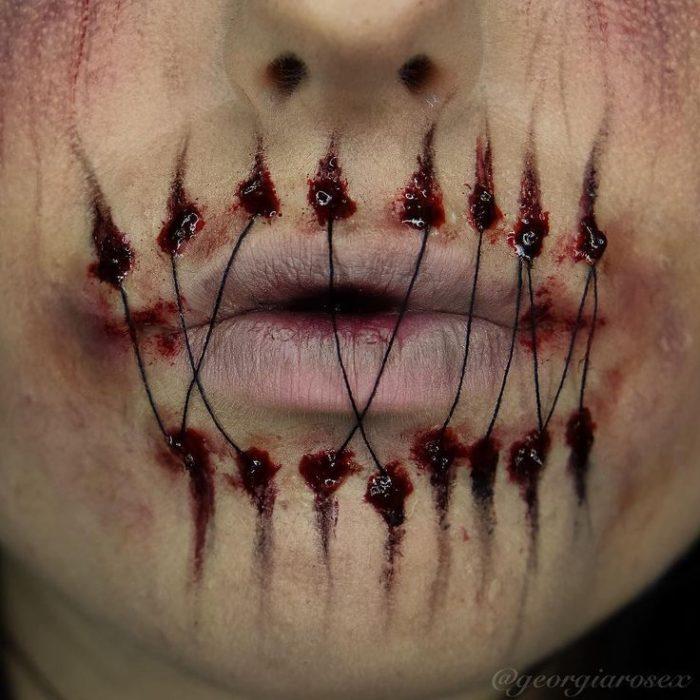 boca cosida halloween