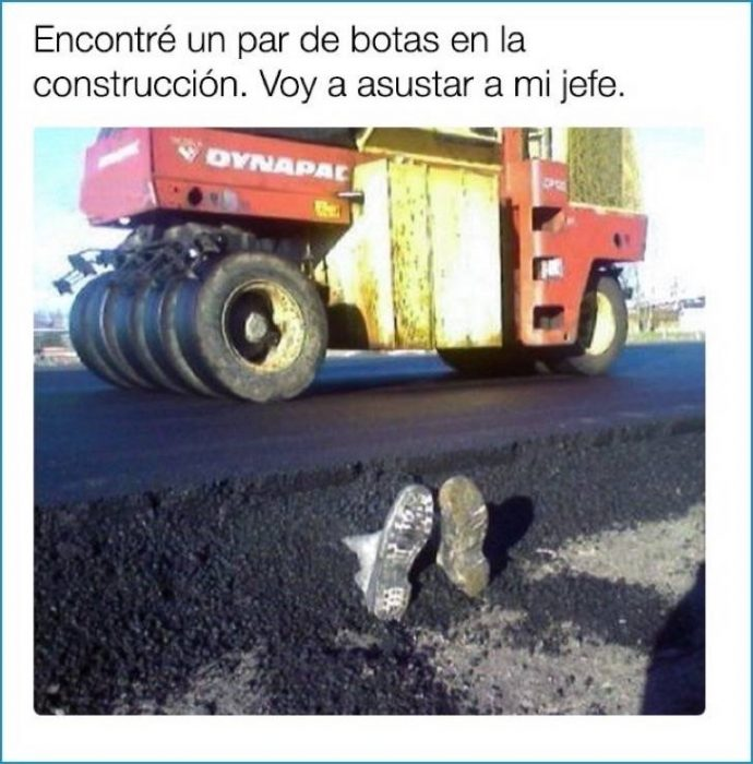 botas cemento broma