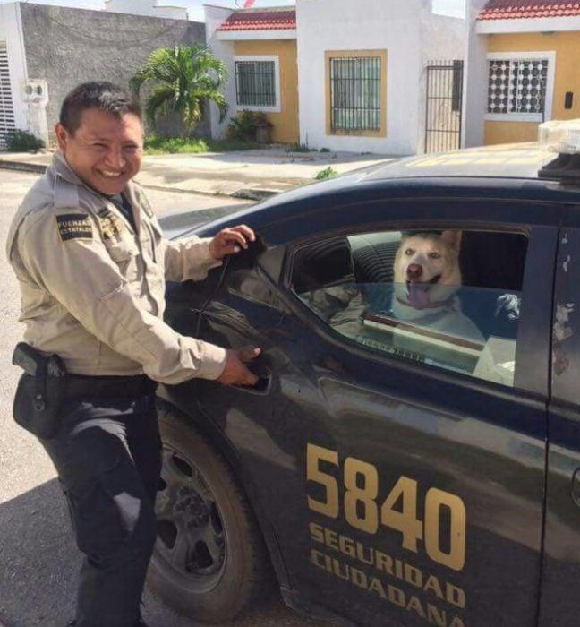 agente policial al rescate