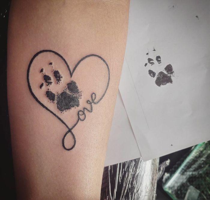 Tatuaje De Huellas Perros Animales