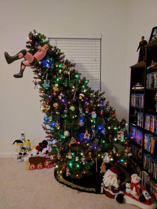 árbol luchador navidad