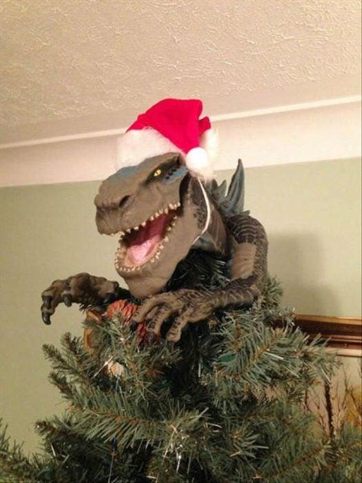 dinosaurio árbol navidad