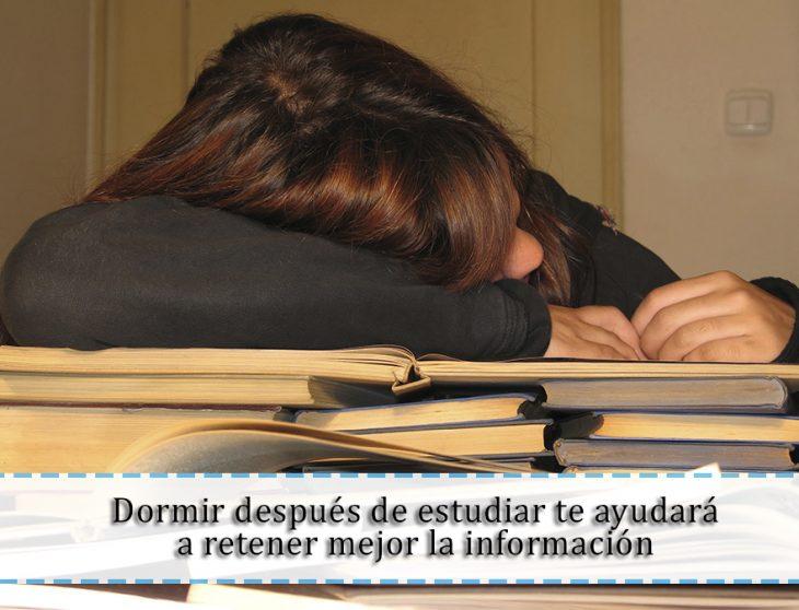 dormir después de estudiar