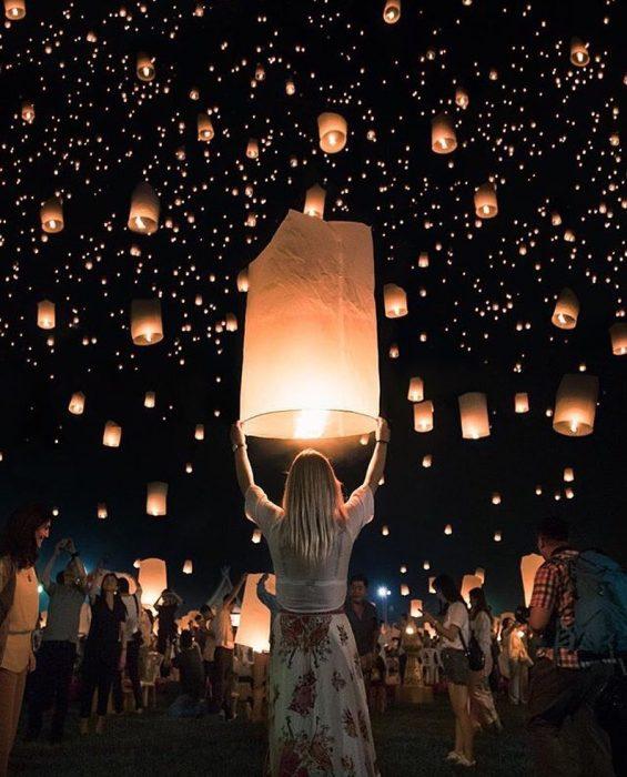 luces flotantes