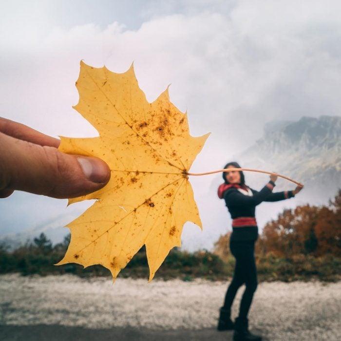 otoño hoja
