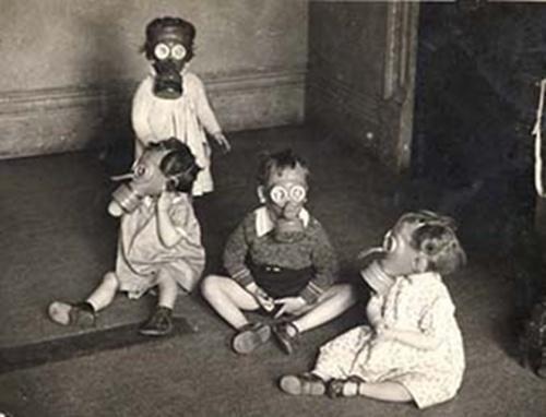 fotos niños máscaras