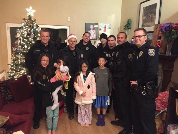 policías navidad