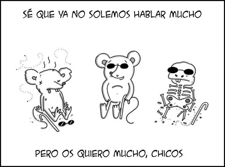 ilustración ratones ciegos