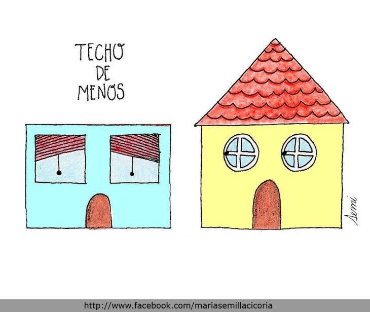 TECHO DE MENOS