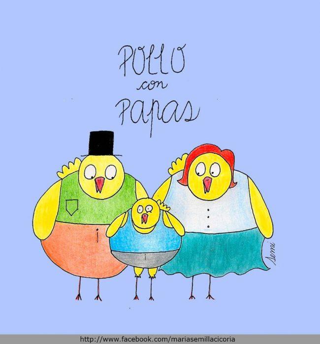 POLLO CON PAPAS