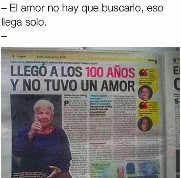 a los 100 sin amor