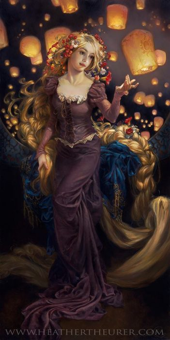 rapunzel pintura heather