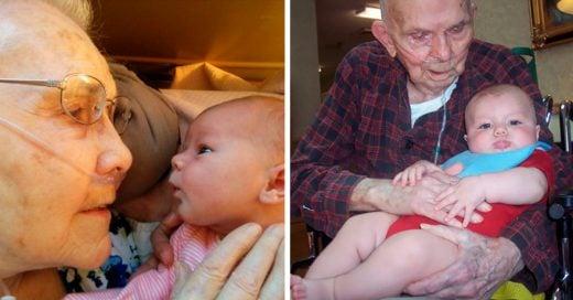 Cover Fotos de abuelos conociendo a sus nietos por primera vez