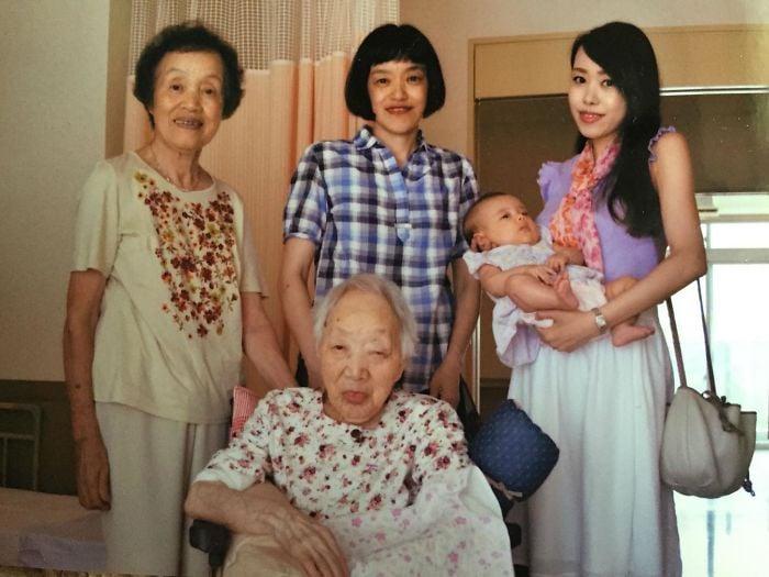 5 generaciones en una sola foto