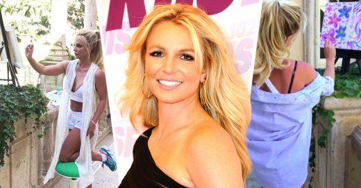 Cover Britney Spears vendió una pintura suya en 10 mil dólares