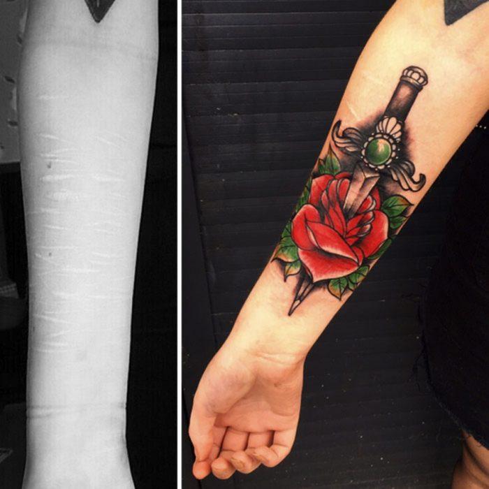 brazo tatuaje