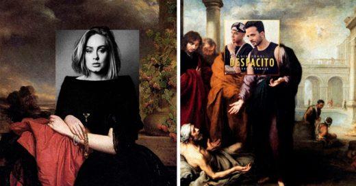 Cover Artista combinó portadas de discos con pinturas clásicas