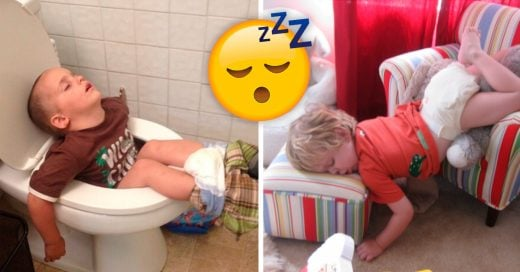 Cover Fotos de niños durmiendo en lugares muy extraños e incómodos