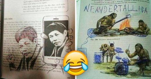 Cover Libros de texto vandalizados por estudiantes aburridos y muy creativos