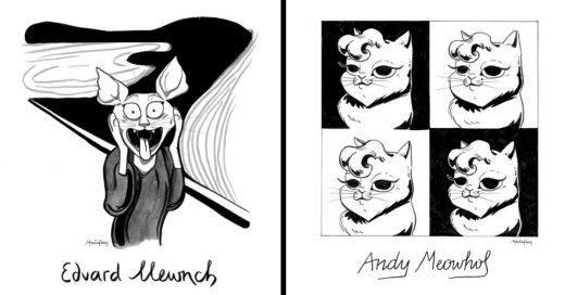 Cover Ilustradora mezcla el Arte clásico con gatos y el resultado es genial