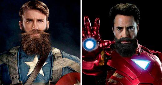 Cover Noviembre es el mes para no rasurarse y los superhéroes lo saben