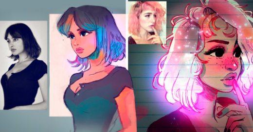 Cover Artista convierte a desconocidas en personajes de anime