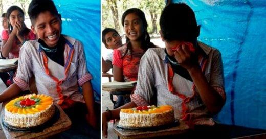 Cover Esta maestra le regaló un pastel a su alumno que nunca había tenido uno
