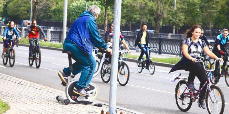 Este es mi padre en una carrera de ciclismo