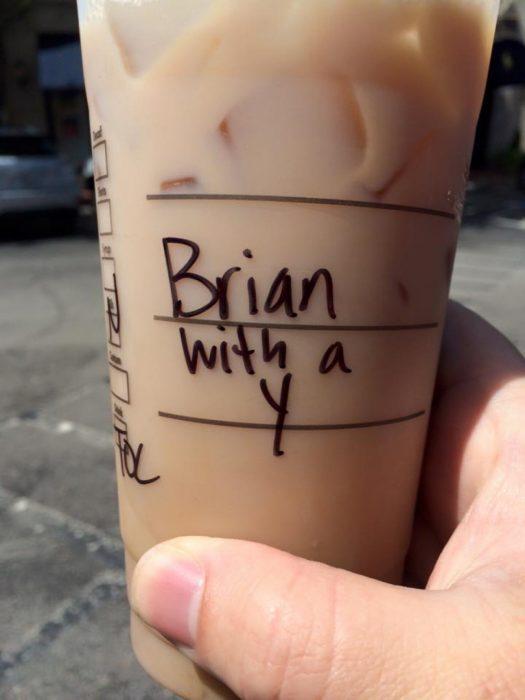 """El dijo Brian con """"y"""""""