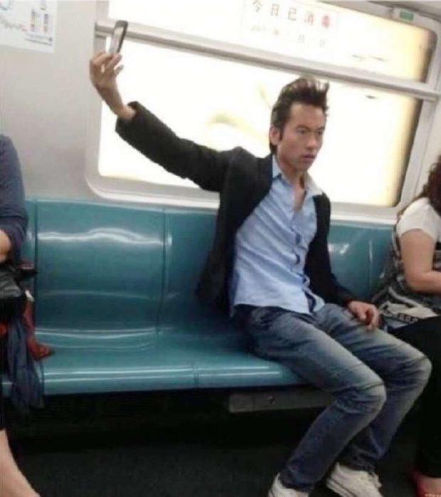 Selfie en el autobús