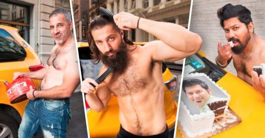 Cover Taxista de Nueva York muestran su lado más sexy en calendario
