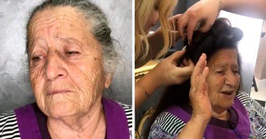 Cover Convenció a su abuelita de cambiarle el look y lloró de emoción