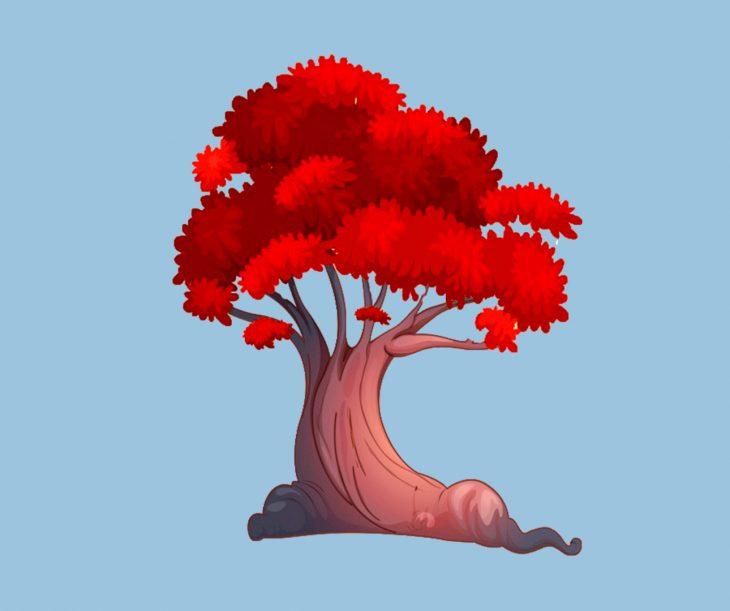 arbol rojo