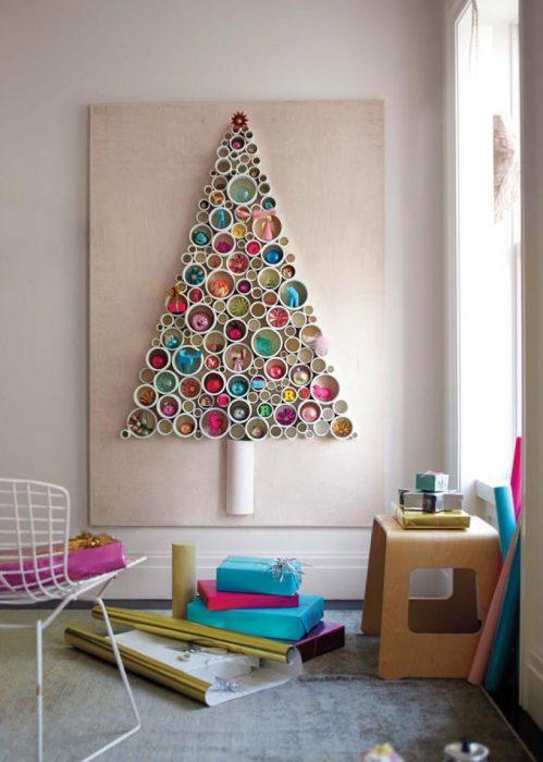 árbol de navidad creativo