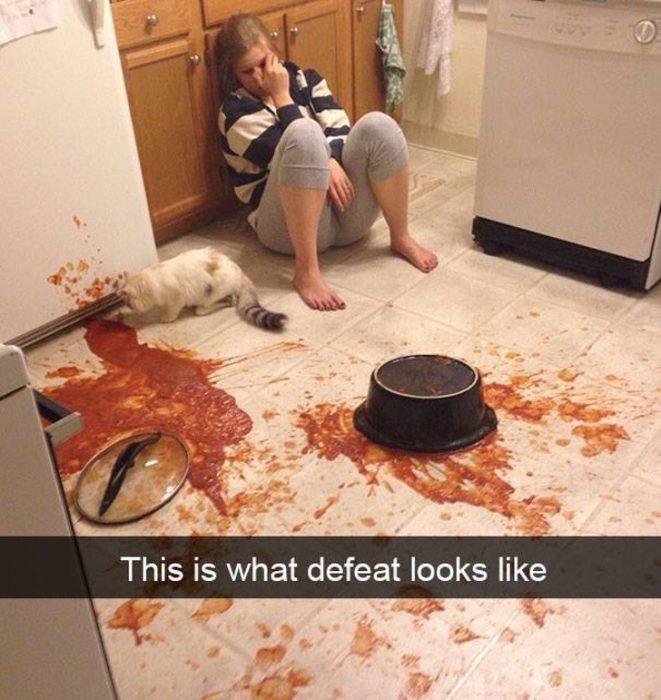 salsa en el suelo
