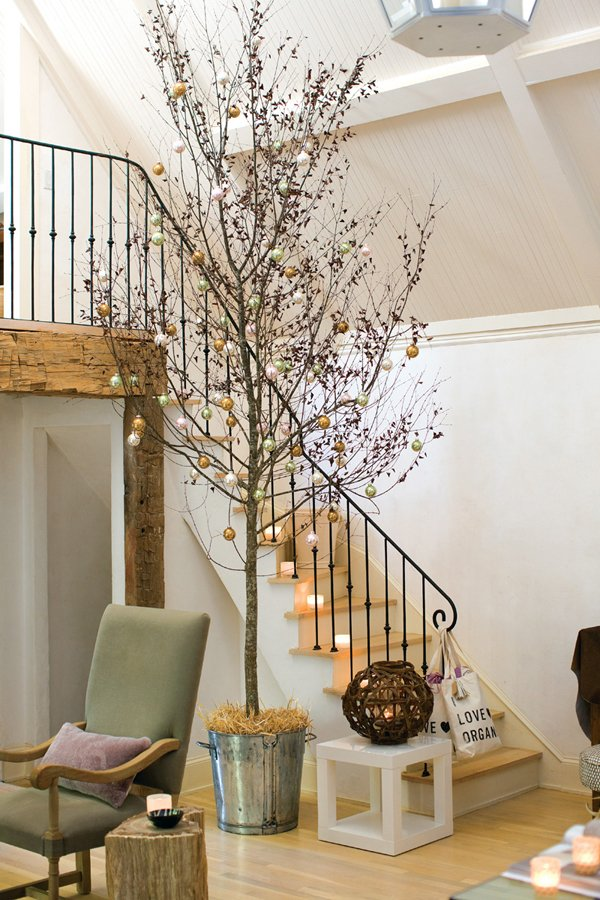 17 Ideas Para Decorar Tu Casa Con Ramas Secas En Navidad - Ramas-de-arboles-para-decoracion