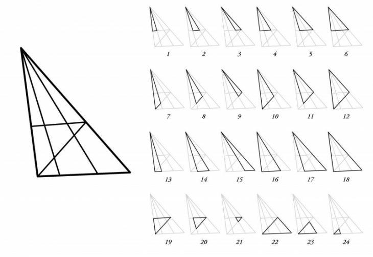 24 triángulos