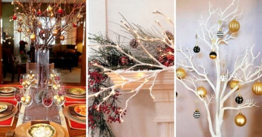 Cover Ideas para decorar tu casa con ramas secas en Navidad