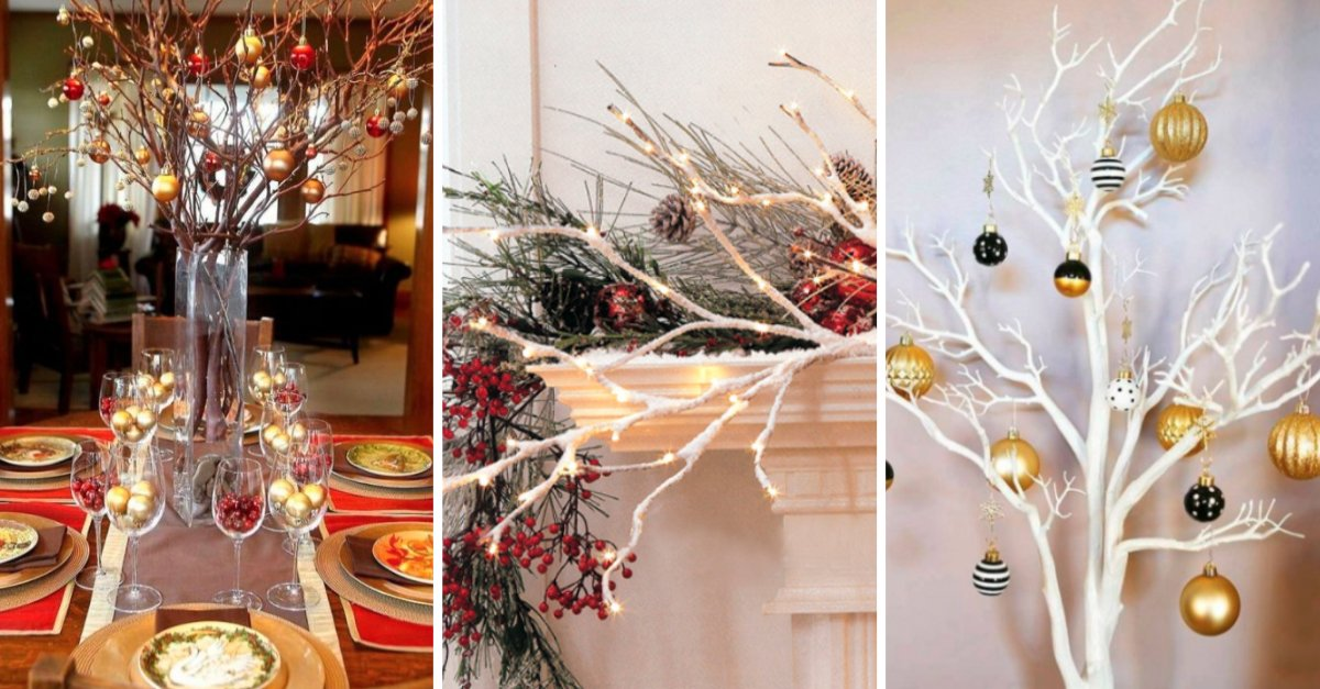 17 ideas para decorar tu casa con ramas secas en navidad for Ideas originales para decorar tu casa