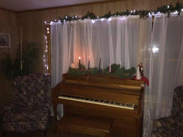 piano luces navidad