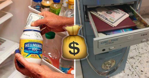 Cover Lugares en donde ningún ladrón buscaría tu dinero