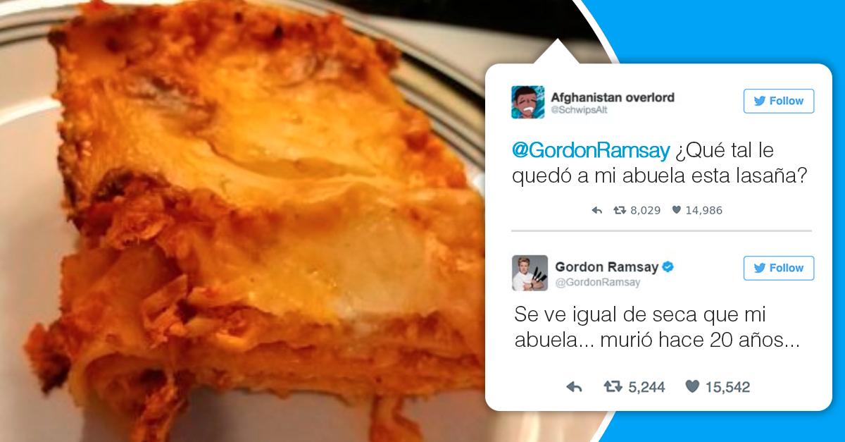 Gordon ramsay los destroz con brutales y divertidos tuits - A tavola con gordon ramsay ...