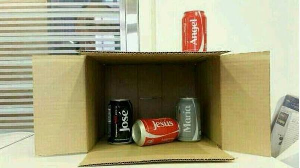 nacimiento de latas