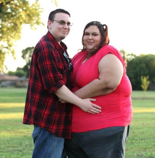 pareja de gordos