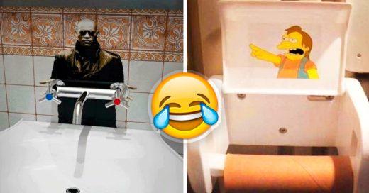 Cover baños vandalizados