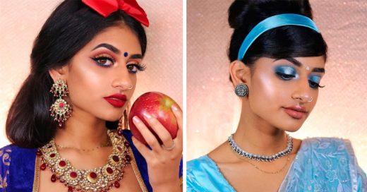 Cover Le rindió tributo a 8 princesas de Disney pero con un toque hindú