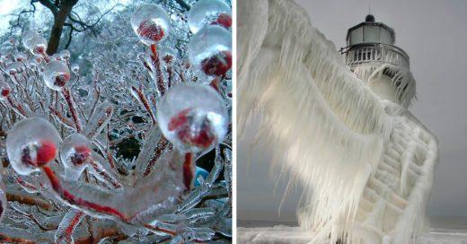 Cover Asombrosas formaciones naturales en hielo que parecen obras de arte