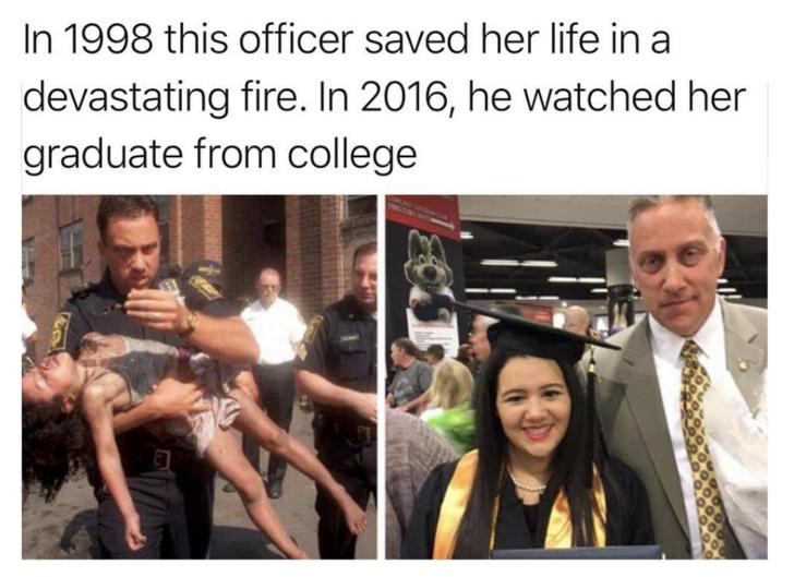 policia salva niña