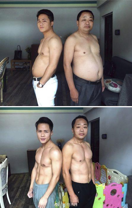 papá e hijo reto