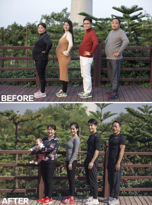 familia antes y después
